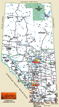 Canmore Alberta Canada Map Kananaskis Maps, Canmore, Alberta and Area Maps to download.