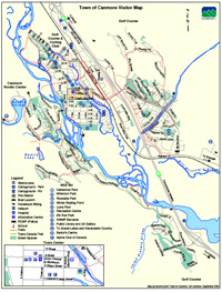 Canmore Town Map